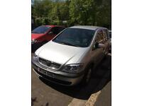 Vauxhall Zafira 1.6 spares or repairs