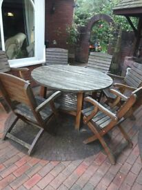 handmade solid oak garden furniture