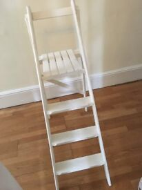 Wedding display ladder - shabby chic/white chalk paint