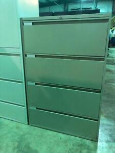 4 Drawer Lateral Filing Cabinets - Full Pull Handles - $279