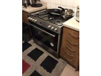 5 ring gas cooker electric oven