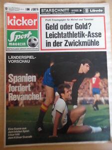 KICKER 12 - 9.2. 1970 Iribar Overath IFK Göteborg Dortmund-Bayern 1:3 Spanien
