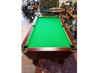 7ft DPT Omega Mahogany Pool Table with NEW CLOTH