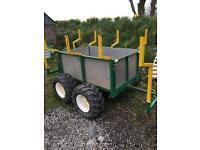 Quad Atv mini tractor log trailer