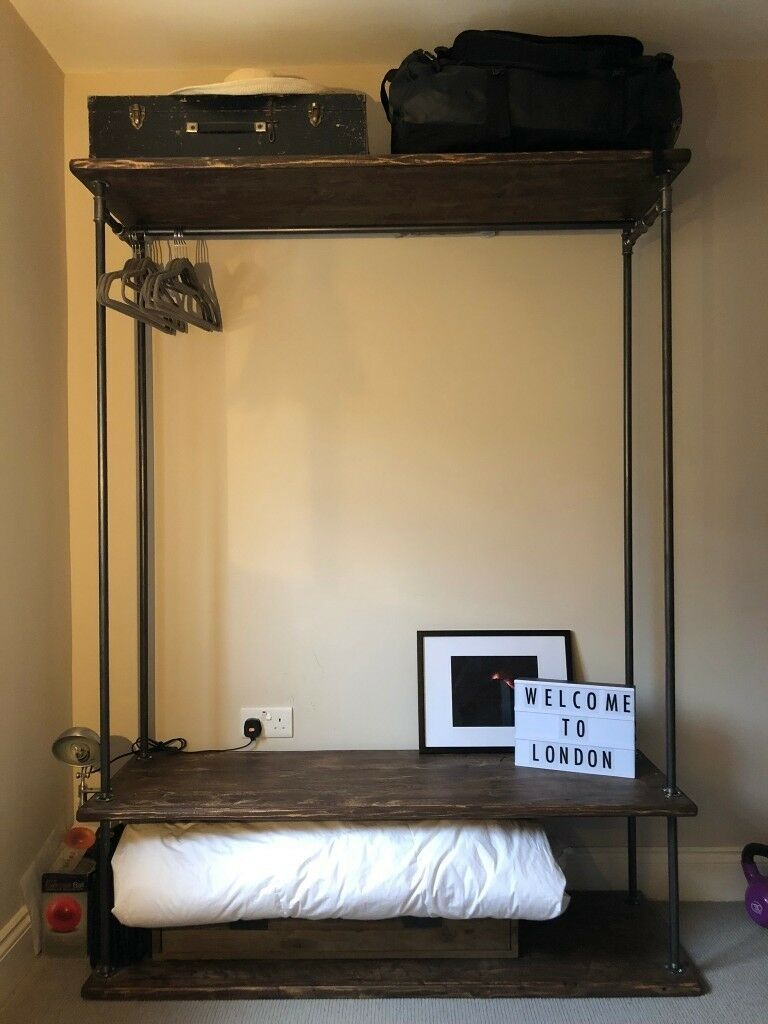 Sensational Rustic Wooden Shelving Unit With Metal Rails Reclaimed Wood In Finsbury Park London Gumtree Home Interior And Landscaping Oversignezvosmurscom