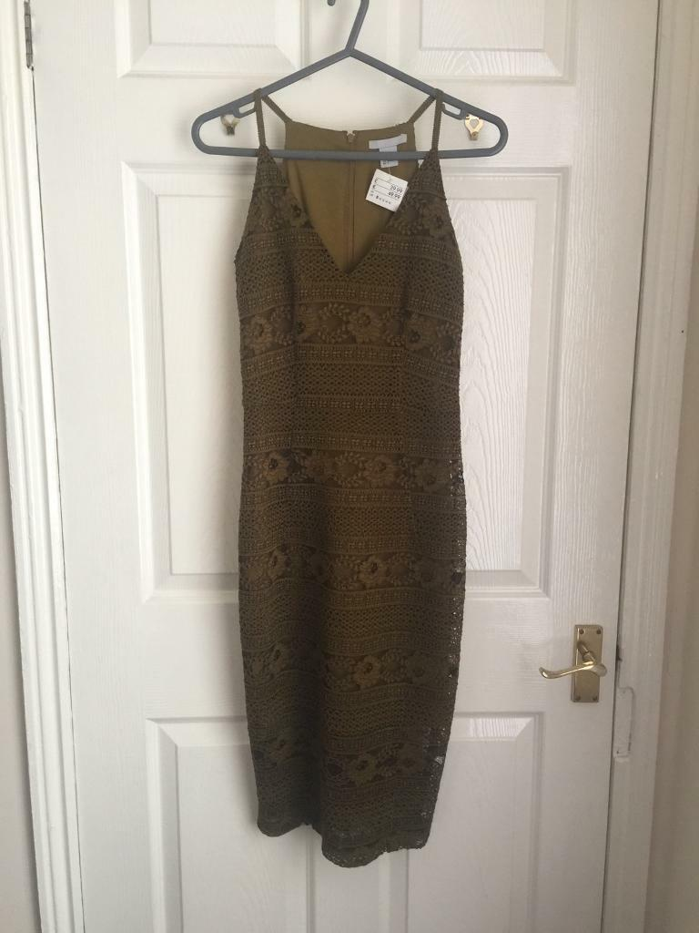 STUNNING mustard lace dress. Size 8. New with tags. RRP 39.99.
