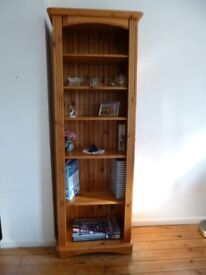 Lovely tall pine unit / bookcase