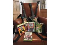 XBOX 360 guitars, games, karaoke with free drum set for sale  Cirencester, Gloucestershire