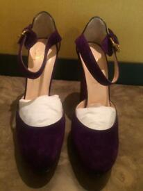 Louboutin Purple Velvet Heels