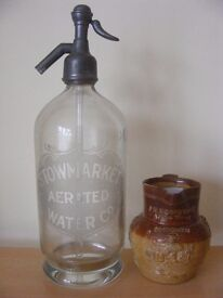 OLD BREWERY & PUB ITEMS WANTED. BOTTLES, JUGS, FLAGONS, SODA SYPHONS ETC.