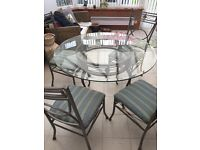 Glass table and chairs £130 ONO