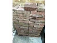 Paving bricks red