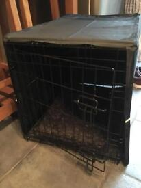 Dog Crate with fitted cushion and cover (small)