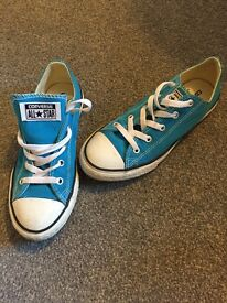 Converse blue trainers