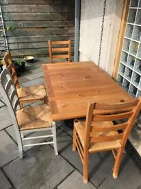 Extending Dining Table + 4 Chairs