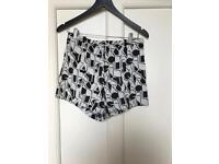 Black and white size 10 shorts