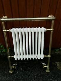 Vintage style heated towel rail and radiator