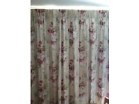 Beckett fabric blackout lined curtains in antique colour 2.3m high x 4.5m span includes tie backs.