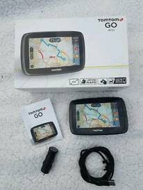 TOMTOM go400 sat nav wuk and Europe Inc. Free map updates and live traffic for life