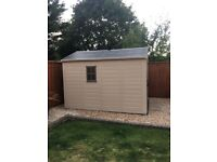 8ftx11ft plastic garden shed (keter) 1 year old bought for £850 looking to get £600
