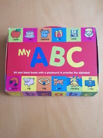 My ABC mini blocks with playboard to practise the alphabet