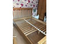 King size pine wood bed frame