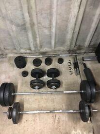 Multigym, free weights & bars