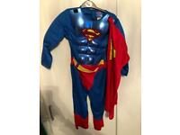 Superman Costume Size 5-6 yrs
