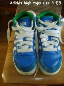 adidas top ten high top trainers uk size 3 £5 collection from didcot smoke and pet free home