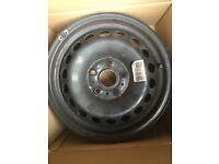 Four 15 inch steel wheel rims from VW Golf 2014 (Mk7)