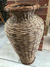 Tall wicker pot for sale