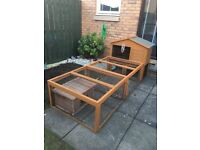 Outdoor Small Animal Hutch and Run