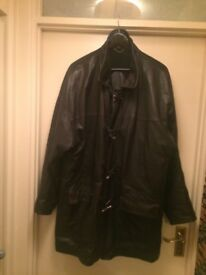 Genuine Leather 3/4 length Gents Coat.