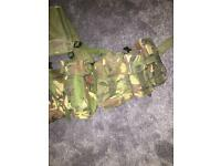 2 army rucksacks and PLCE webbing