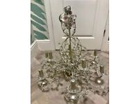 BEAUTIFUL LARGE CRYSTAL CHANDELIER - FREE TO A HIGH CEILINGED HOME