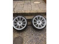 BMW mv4 19 inch rear alloy wheels