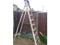 8 ft wooden ladder for shabby chic or upscale