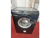 HOOVER 7kg 1400rpm black washing machine with 6 months warranty