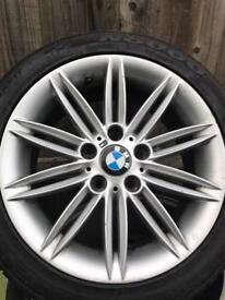 "BMW 1 series 17"" m sport alloys tyres"