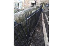 Wrought iron railings for sale 7 metres with gate