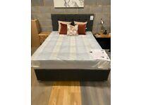 King Size Divan Bed + new mattress +head board+ cushions