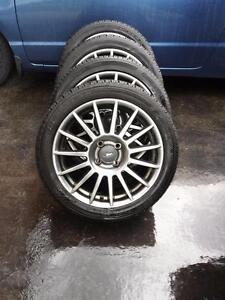 FORD FOCUS 2011 17 INCH FACTORY WHEELS WITH LIKE NEW HIGH PERFORMANCE 215/45/17 TIRES