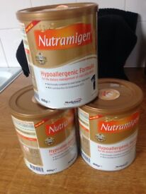nutramigen hypoallergenic formula stage 1 for cows milk allergy x3 tubs
