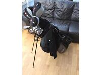 Full set RAM golf clubs with bag.