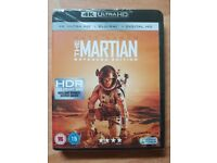 New & Sealed The Martian: Extended Edition 4K UHD Blu-ray + Blu-ray + Digital Download