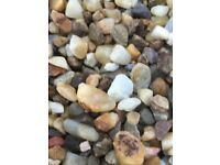 20 mm golden quartz garden and driveway chips/ gravel/ stones