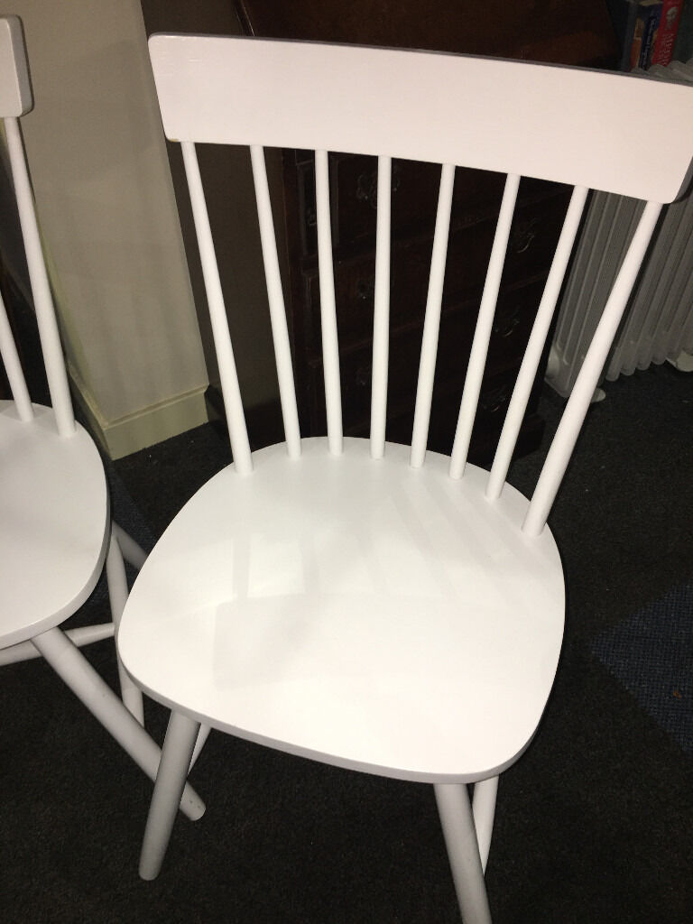 Occasional Bedroom Chairs Fine Looking Pair Of White Solid Country Kitchen Style Occasional