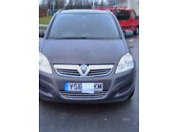 VAUXHALL ZAFIRA,2013,VGC, VERY LOW MILAGE, 7SEATER.