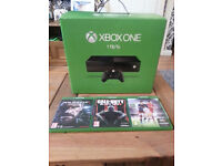 XBOX ONE 1TB HD, 1 PAD , 3 GAMES, PERFECT CONDITION, 1YR OLD