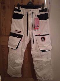 Ski Pants Salopettes - Men's Large White - Colmar Jon Olsson